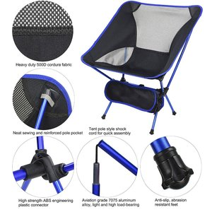 Image 4 - Dropshipping Portable Lightweight Fishing Chair Solid Camping Stool Folding Outdoor Furniture Garden Portable Ultra Light Chairs