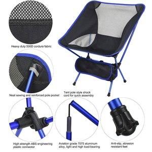 Image 4 - Silla de pesca ligera y portátil, taburete sólido para acampar, muebles plegables para exteriores, sillas ultraligeras