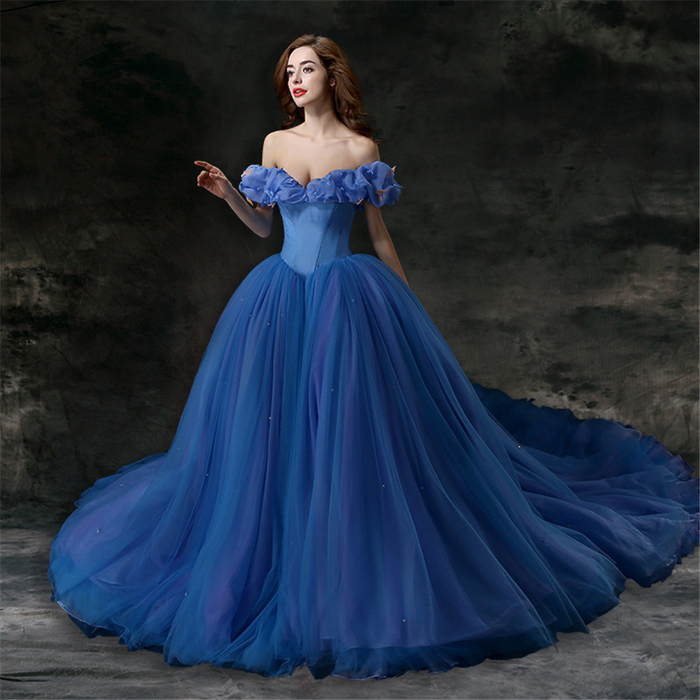 Popular royal blue wedding gowns buy cheap royal blue for Wedding dress brands under 2000