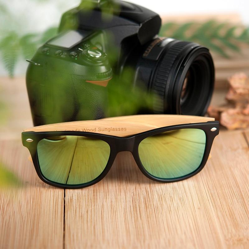 para mulher homem colorido lente polarizada bambu
