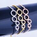 Copper bracelet gold-plated gold and silver tones fashion trend couple charm bracelet 39cm PQ099