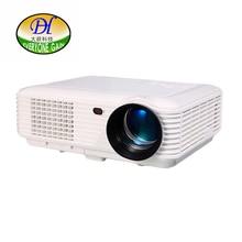 2017 Nueva DH-TL120 5200 lúmenes 3D LED LCD Proyector Full HD 1280*800 P Video Oficina Proyector de Cine En Casa cine Beamer