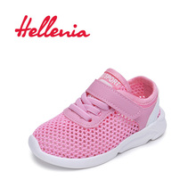 Hellenia Toddler Shoes for little girls breathable soft Casual Sports baby Kids mesh Sneakers pink size 21-25