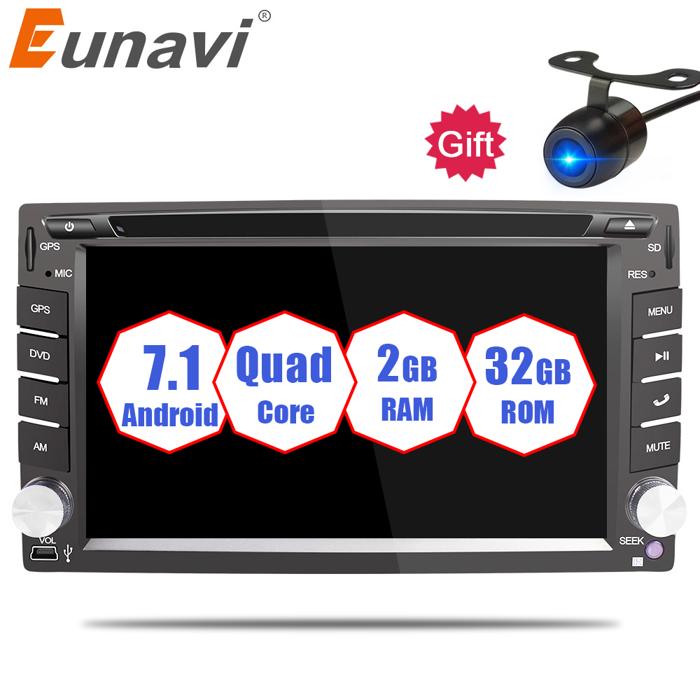 Eunavi Universal 2 din Android 7.1 8.1 Car DVD player GPS+Wifi+Bluetooth+Radio+DDR3+ Touch Screen+3G+car pc+audio 16G Quad Core eunavi universal 2 din android 7 1 8 1 car dvd player gps wifi bluetooth radio quad core ddr3 capacitive touch screen car stereo