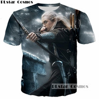 PLstar Cosmos Elfing Hoàng Tử Legolas Greenleaf Orlando Nở T-Shirt in 3D The Lord Of The Rings tee áo thun Men t áo sơ mi