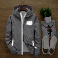 S To 7XL Plus Size Linkin Park Men Women Anti Wind Hoodie Sweatshirt Light Reflective Tracksuit