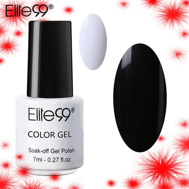 Elite99 7 ml Französisch Weiß Reinem Schwarz Gel Polnisch 1 Peice Nail art Design Weg tränken UV Lampe LED Nagel polnischen Gel Lack Primer