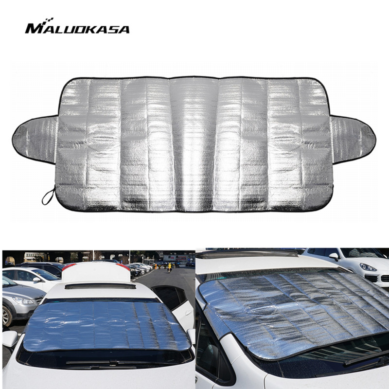 MALUOKASA Auto Windshield Window Sunshades Car Covers Front Windscreen Anti Snow Frost Shield Aluminium film Anti-UV Protection auto car windscreen snow ice frost windshield roof covers protector 610025