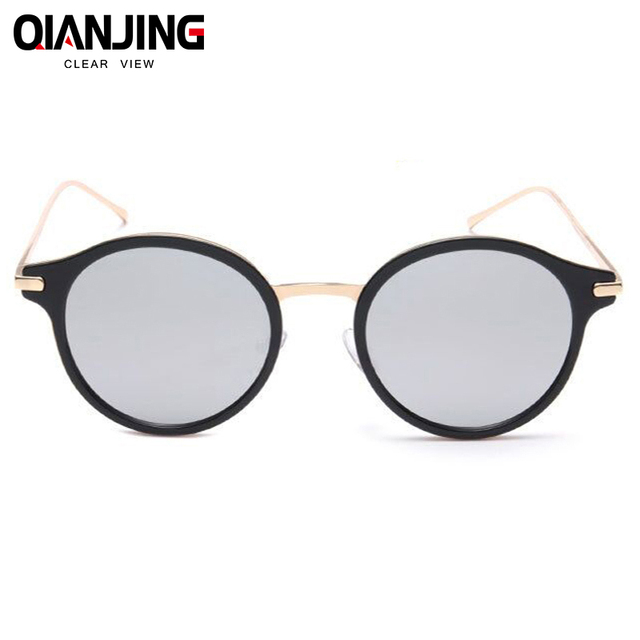 a59086ef531 QIANJING 2018 Luxury Women Sunglasses Fashion Round Ladies Vintage Retro  Brand Designer Oversized Female Sport Sun Glasses Tide