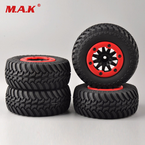 Image 2 - 4 pcs/set RC car 1:10 short course truck tires set tyre wheel rim fit for TRAXXAS SlASH HPI remote control car model toy parts