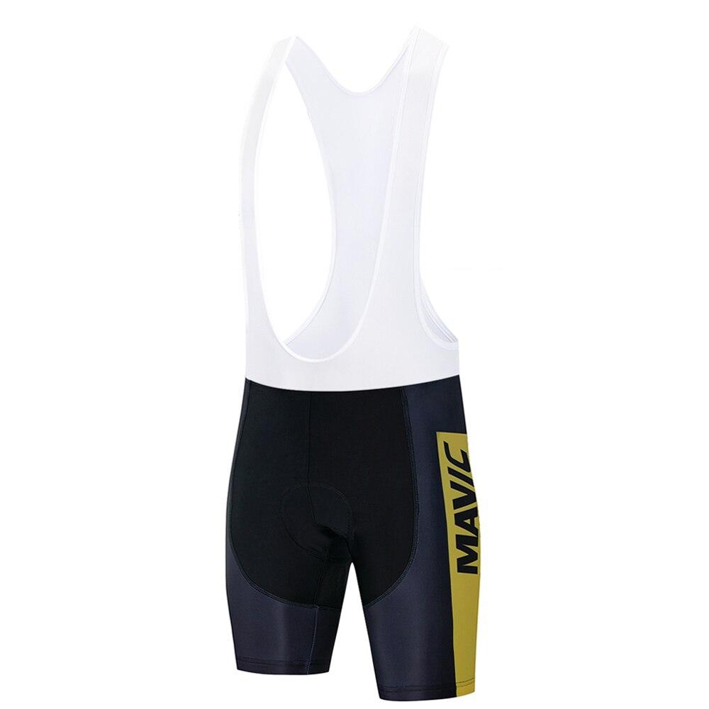 Mavic Pro Team 2019 New Cycling 9D GEL Pad Bib Shorts MTB Quick Dry Breathable Padded Sport Bike Wear Bicycle Lycra
