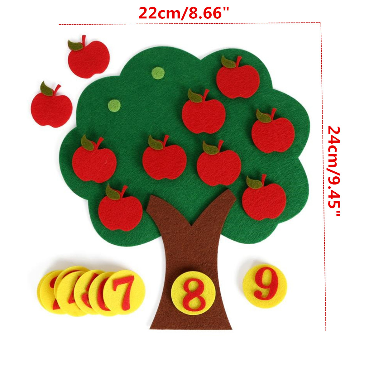 Montessori Teaching Aids App le Trees Math Toys Teaching Kindergarten manual Diy Early Learning Education Toys Digital Math Toy image