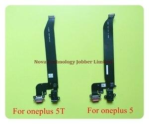 Image 2 - Wyieno para oneplus 5 5t carregador porta placa conector de carregamento usb cabo flexível microfone mic plug peças reposição + rastreamento
