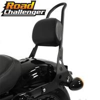 For Harley Sportster XL883 1200 48 04 15 Motorcycle Black Passenger Backrest Sissy Bar Cushion Pad