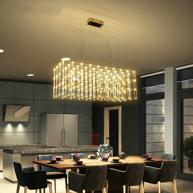 Post modern creavtive stainless steel LED pendant light ...