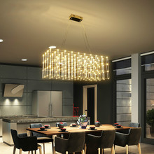 купить Post modern creavtive stainless steel LED pendant light fixture norbic home deco restaurant square light cube pendant lamp по цене 4857.31 рублей