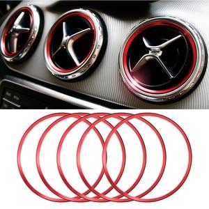 5Pcs Aria Condizionata Presa Anello Decorativo Centrale di Controllo Mini Sticker Auto Accessori per Interni Auto Roba per Mercedes Benz(China)