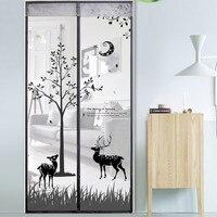 Deer Type High Density Dustproof Anti Mosquito Magnetic Curtain Hook Loop Fastener Summer Bedroom Cloth Transparent
