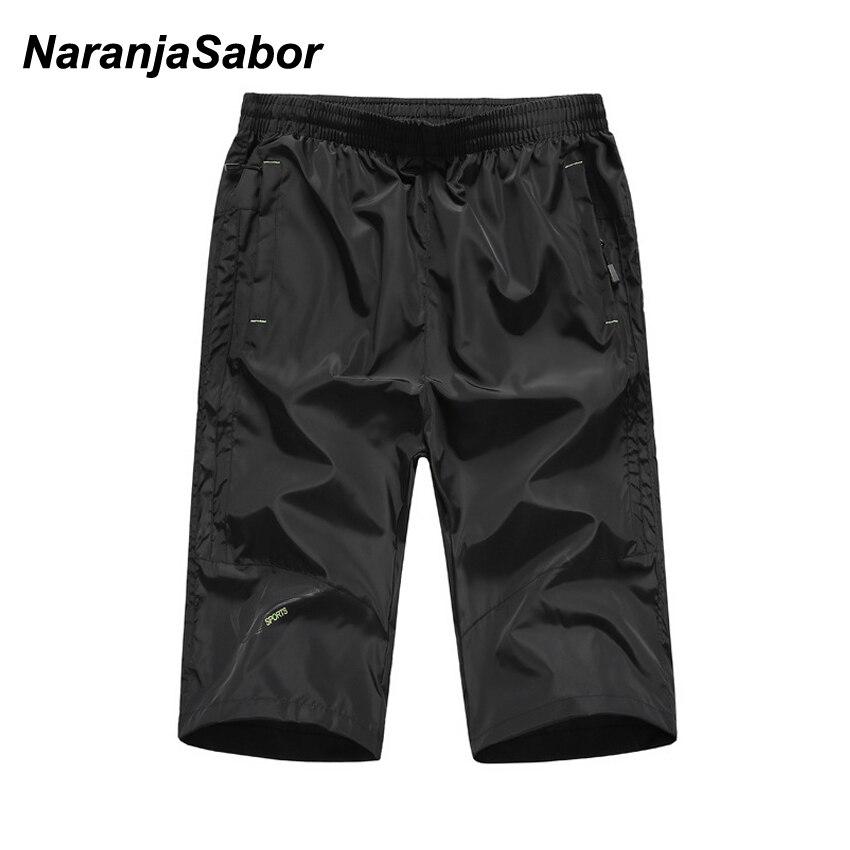 NaranjaSabor Summer New Men's Capri Shorts Sportswear Breathable Man Male Boys Quick Dry Shorts Jogger Loose Beach Shorts 5XL