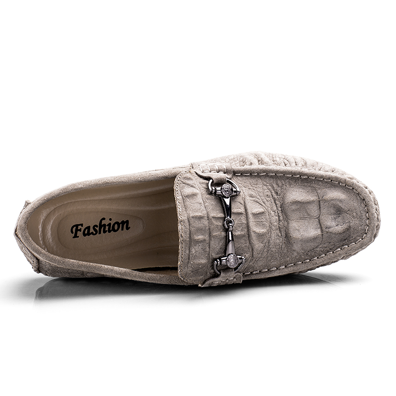 brown Main Casual Doug Nubuck Noir Cuir gris rouge Pour on Slip Conduite En Appartements Confortable Loisirs Hommes Chaussures Mocassins De Daim Printemps 6CaCq1