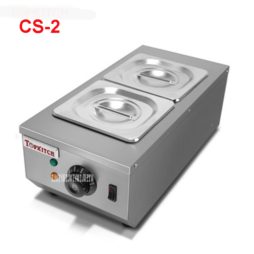 CS-2 Commercial 2 Pot Chocolate Melting Pot Electric Chocolate Melting Pot Domestic Chocolate Melting Pot 2 * 2L Capacity 220V 220v 600w 1 2l portable multi cooker mini electric hot pot stainless steel inner electric cooker with steam lattice for students