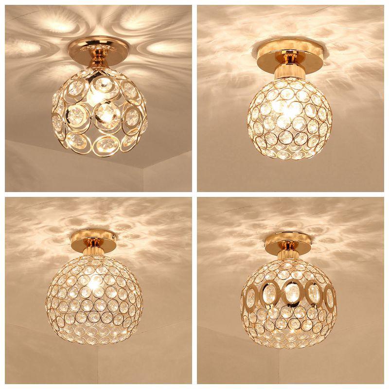 E14 Ceiling Lamp Crystal Living Room Foyer Light Home Lights Lustre Fixtures Restaurant Luminarias Luxury Ceiling Light
