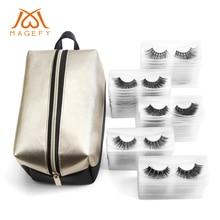 30/50pairs Mink Eyelashes False With 1pcs Makeup Bag Crisscross Natural Fake lashes Soft 3D Lashes Extension Kit
