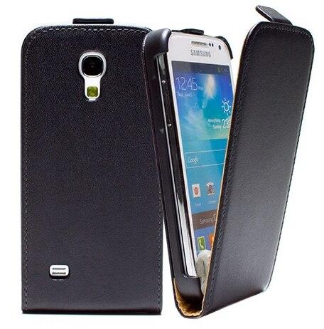 Чехол кожа, подлинная для Galaxy S4 mini GT-I9195 GT-I9190 + S4 mini экран протектор