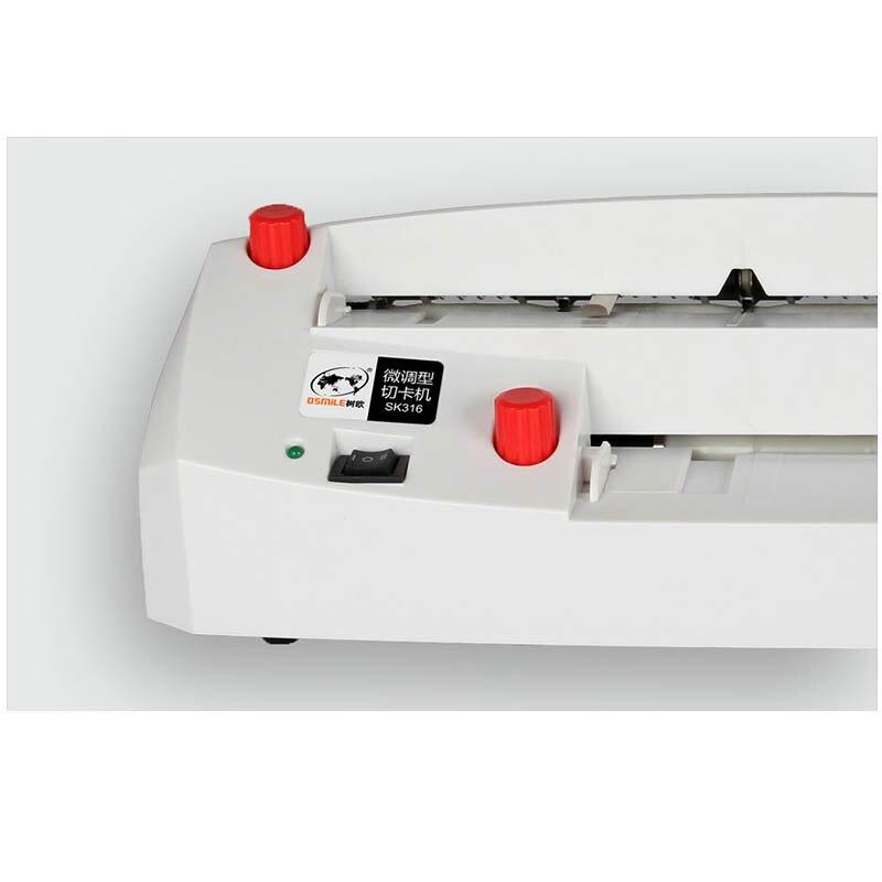 A4 größe elektrische visitenkarte schneiden maschine SK316 90*54mm karte größe SK316 Heavy duty feine tuning karte cutter 220 240 V 20 W HEIßER - 3