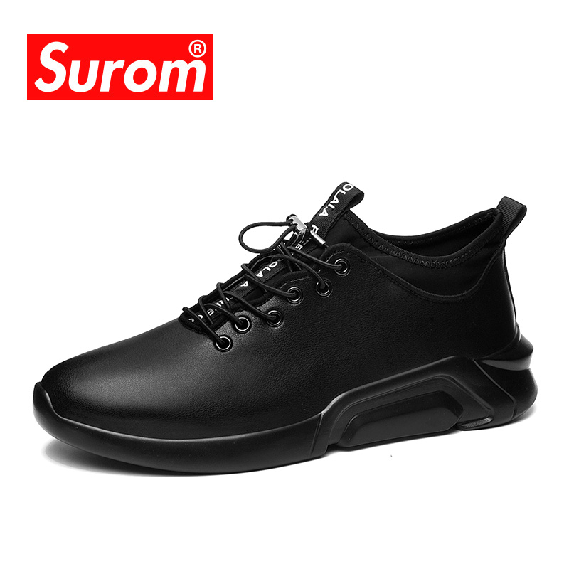 цены SUROM Luxury Brand Sneakers Fashion Casual Shoes For Men Spring Autumn New Harajuku Student Classic Black White Shoes Krasovki
