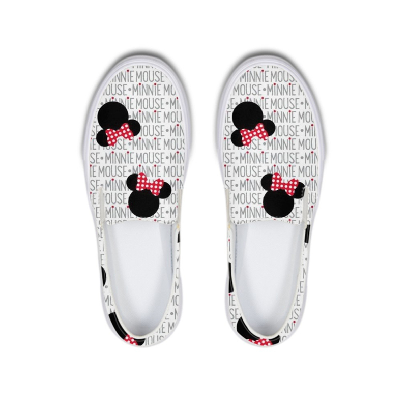 Summer Women Flats Cartoon White Mouse Printed Loafers Woman Sneakers Platform Girls School Nurse Casual Ladies Shoes Slip OnSummer Women Flats Cartoon White Mouse Printed Loafers Woman Sneakers Platform Girls School Nurse Casual Ladies Shoes Slip On