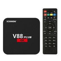 V88 Plus Smart Android 5 1 TV Box RK3229 Quad Core KODI 16 1 XBMC UHD