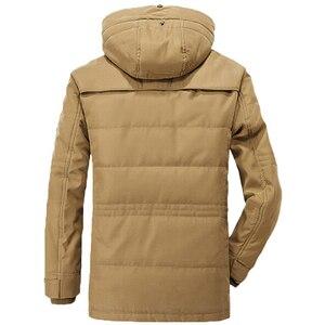 Image 4 - Nuovo Meno 40 Gradi Rivestimento di Inverno Degli Uomini Addensare Caldo Cotone Imbottito Giubbotti Con Cappuccio da Uomo Giacca A Vento Parka Più Il Formato uomini giacca