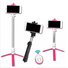 Wireless Bluetooth Remote Shutter Selfie Stick Mini Tripod Extendable Selfie Stick Universal for iOS Android Phone drop shipping wireless bluetooth v3 0 selfie remote shutter for ios android phones white yellow 1 x cr2032
