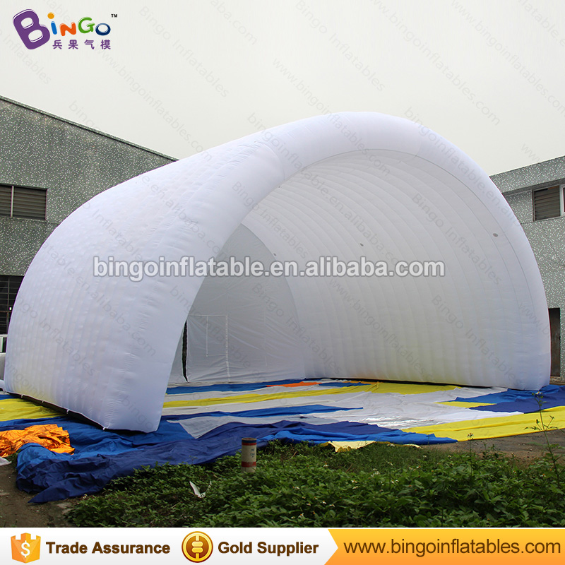 Free Shipping white Inflatable Stage Cover Tent 10x8x6 meters nylon cloth tunnel Arcs for the tent for toy tents
