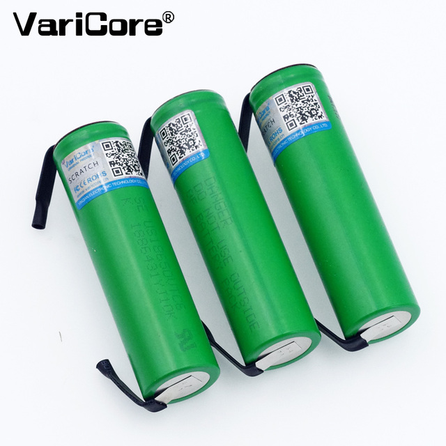 VariCore VTC6 3.7V 3000mAh 18650 Li-ion Battery 30A Discharge for US18650VTC6 Tools e-cigarette batteries+DIY Nickel sheets 1
