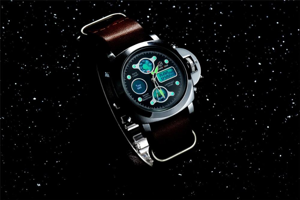 ผู้ชายแฟชั่นW Ristwatcheหรูหราร้อนแบรนด์ฉลามนาฬิกาสไตล์ผู้ชายสายหนังนาฬิกากีฬานาฬิกาที่มีคุณภ... 20