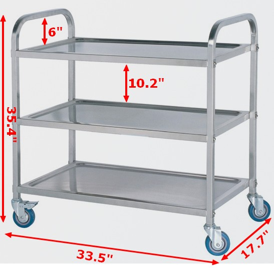 3 Shelf Stainless Steel Utility Cart Steel Door With Frame Steel Wire Rope Pricecart Drawer Aliexpress