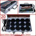 ¡ CALIENTE! 20 unids/set ysgyp-nls cuerpo Masaje con piedras con caja del calentador