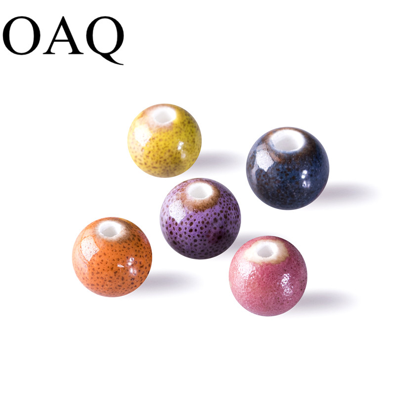 No fading Round Colorful Ceramic Beads 10mm Beads for Jewelry Making High Quality lustre JEWELLERY Craft wholesale DIY Bricolage