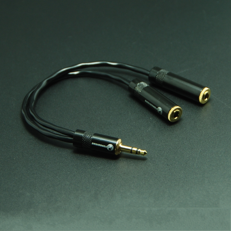 HIFI 3.5mm Headphone 1 to 2 Audio Extension Cable with Japan Original CANARE L-2B2AT High-fidelity Audio Signal Line 100% OFC