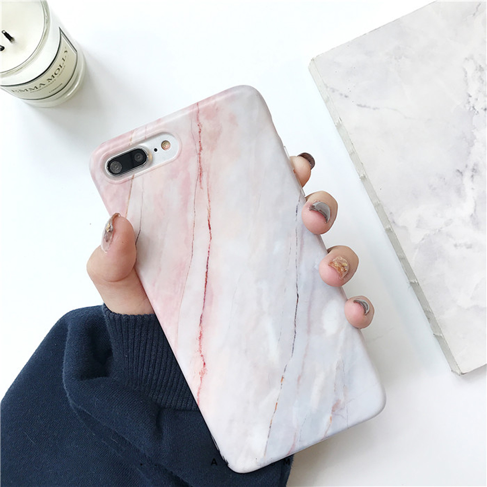 Moskado Shell Phone Case With Glossy Granite Marble Stone Cover For iPhone 11 Pro X XS Max XR 15