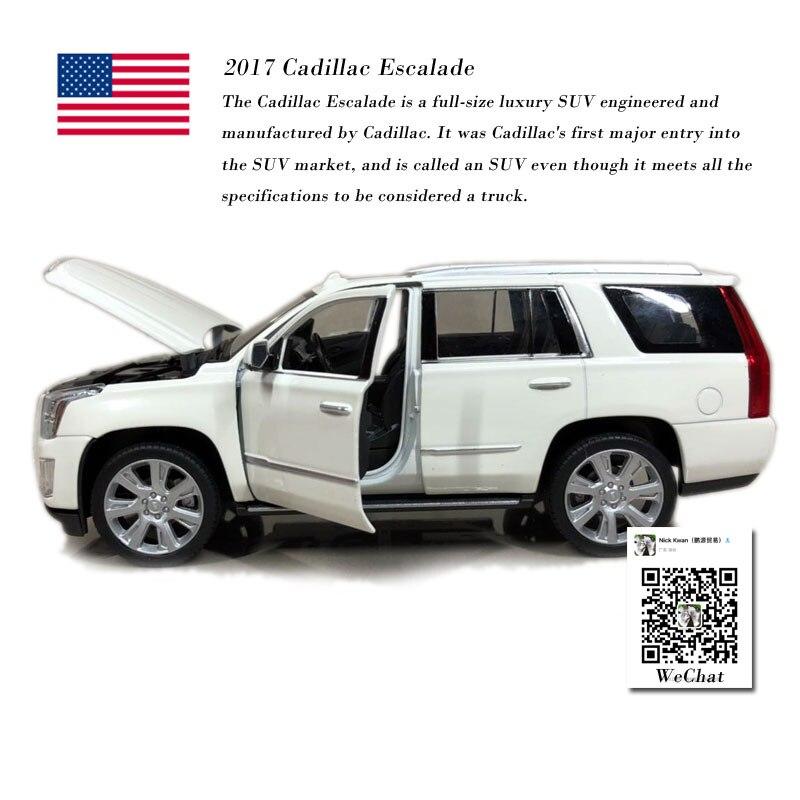WELLY 1/24 Scale Car Model Toys Cadillac Escalade SUV 2017