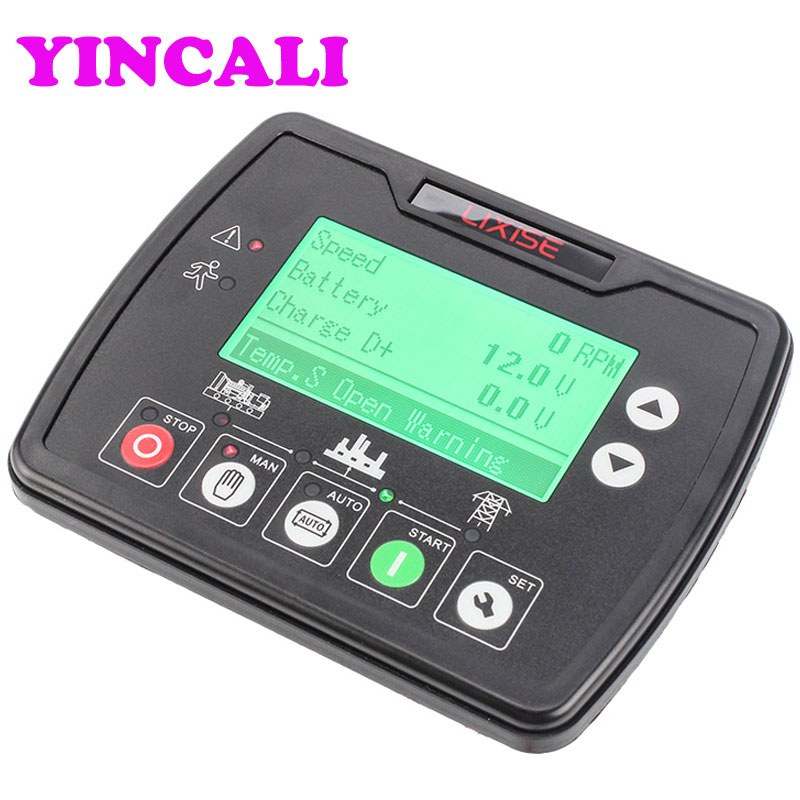 Newly Generator Controller LXC3920 engine generator ATS controller diesel genset remote monitoring system LCD backlight generator speed controller 3044195 for diesel engine genset