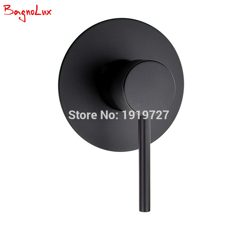 Bagnolux Wall Mount Bathroom Mixer Valve Diverter Control Valve Hot and cold taps-in Bath & Shower Faucets Matte Black