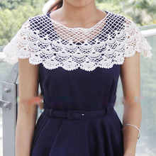 3Pcs Vintage Cotton Lace Embroidered Neckline Neck Collar Clothes Sewing Applique Embellishments DIY Sewing Crafts burdastyle sewing vintage modern