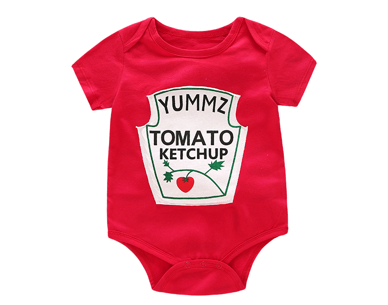 753578749 Summer Cute Baby Boys Girls Clothes Short Sleeved Red Yellow Baby Bodysuit  Unisex Baby One piece Jumpsuit DS9 Tags: