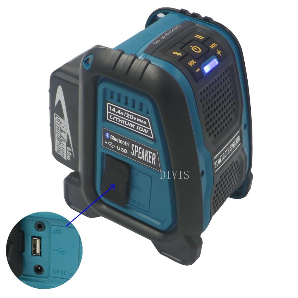 18V 6 0AH li ion battery CordlessBluetooth Job Site Speaker For Makita dewalt Milwaukee Bosch 14