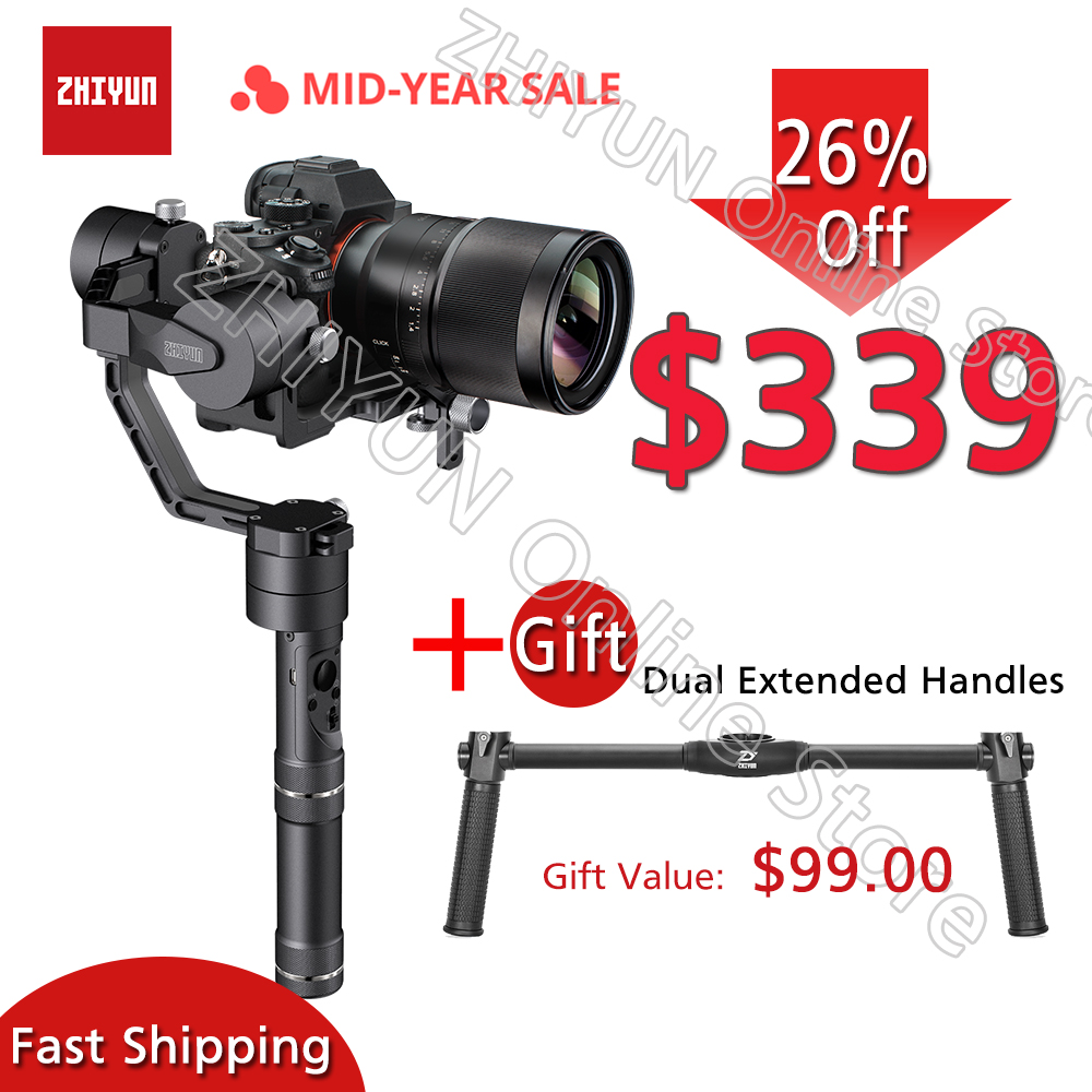 ZHIYUN Guindaste V2, 3-eixo Cardan Estabilizador para a Câmera Mirrorless e DSLR para Sony Panasonic LUMIX A7 Nikon Canon PK Hohemn J