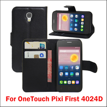 New Arrival For Alcatel OneTouch Pixi First 4024D Case Luxury Flip Leather Stand Case Hight Quality PU Leather Cover цена и фото